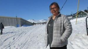 Peggy Andersen fears the sealskin boots are a dying tradition. (Photo: Jacob Barker/CBC)